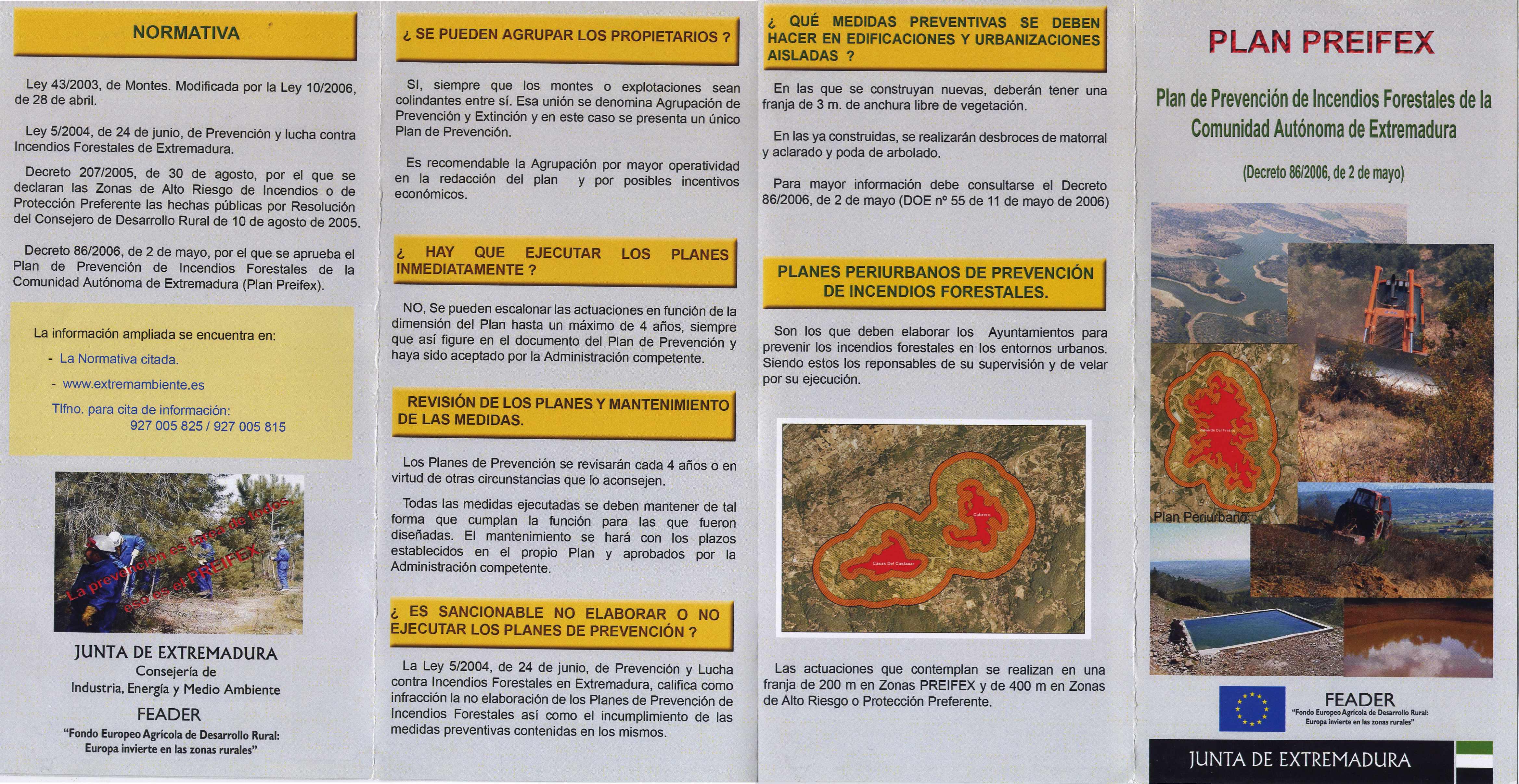 Plan preifex plan de prevenci n de incendios forestales for Medidas contra incendios